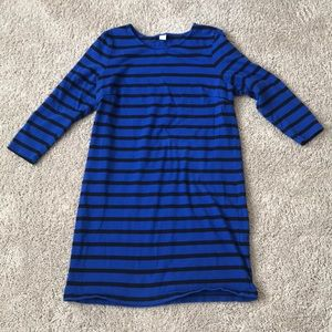 Thick royal blue striped old navy dress
